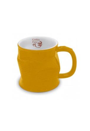 Мятая кружка керамическая 0.32л желтый