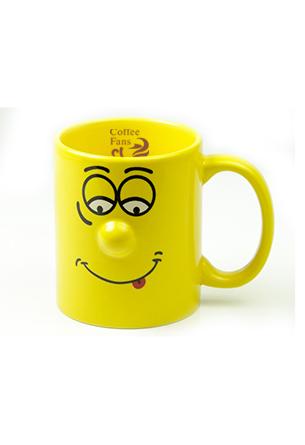 Кружка Smiley, 300 мл, желтая