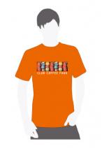Мужская футболка оранжевого цвета